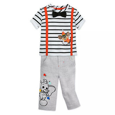 Baby DUMBO~Shirt~Polo~TOP White~SHORTS~2pc Set~Infant~6//9M~NWT~Disney Store