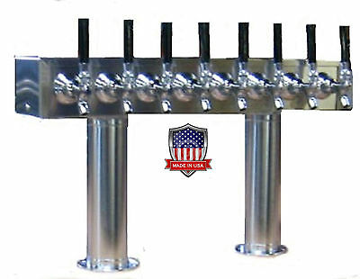 Stainless Steel Draft Beer Tower Made in USA - 8 Faucets - AIR COOLED  -PT8SS