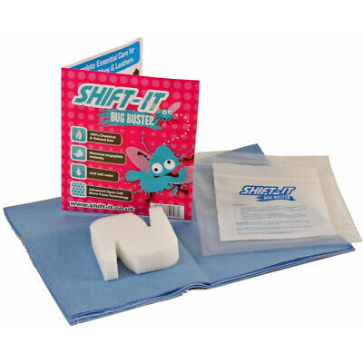 Shift It Bug Buster Sponge Motorcycle Visor Cleaning Kit Set Wiping Cloth Fabric