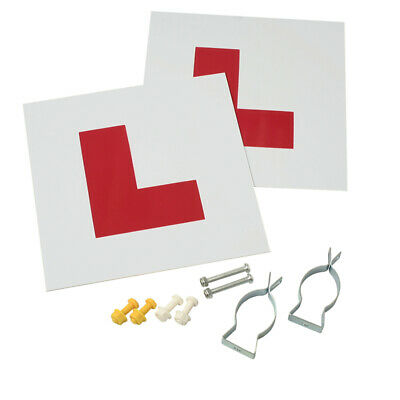 Gear Gremlin L Plate Kit GG930 New Driver Sign Forked Brackets Set of Two