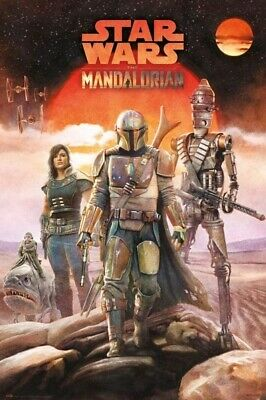 STAR WARS THE MANDALORIAN THE CREW POSTER Size 24x36