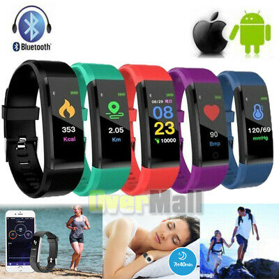 Smart Watch Heart Rate Fitness Sports Step Tracker Bluetooth Monitor Waterproof