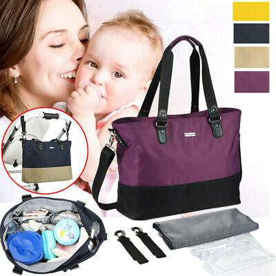 Multifunction Nylon Mummy Maternity Bag Baby Nappy Diaper Tote Shoulder Bags
