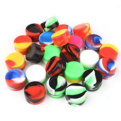 10pcs 10ml Silicone Container Jar Non-Stick Mixed colors Round Wholesale lot