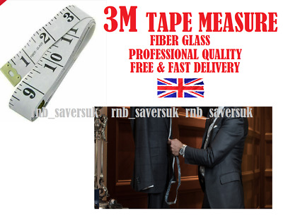 3M WHITE 2X1.5M Colourful Body Measuring Ruler Sewing Tailor Tape Measure Soft