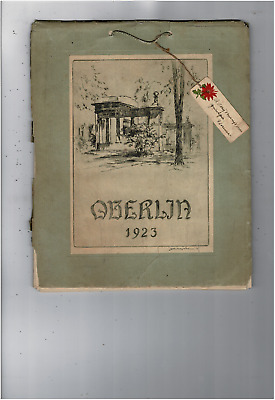 Vintage Rare 1923 Oberlin Collect Advertising Calendar Christmas Tag Ms1684