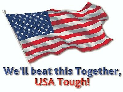 We'll Beat This Together USA Yard Sign