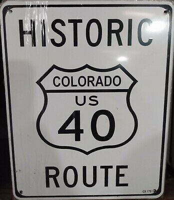 """Historic Indiana US Route 40 8""""x10"""" Metal Street Sign"""
