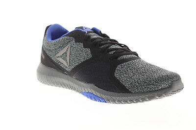 Reebok Flexagon Force DV4475 Mens Gray Canvas Lace Up Athletic Running Shoes