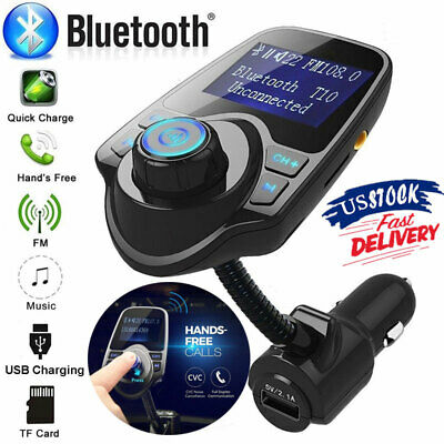 Bluetooth In-Car Wireless FM Transmitter MP3 Radio Player Adapter USB Charger