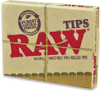 Raw Tobacco Authentic Classic Natural Unrefined Pre Rolled Tips 21 per pack
