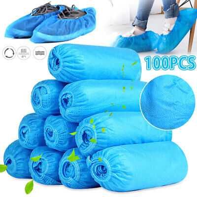 100 Pack Disposable Shoe Covers Anti Slip Thick Boot Overshoes Cover Home Office