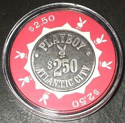(1) $2.50 PLAYBOY CASINO CHIP - 1981 - ATLANTIC CITY, New Jersey -Bud Jones Mold