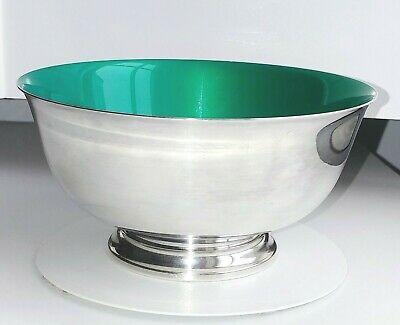 Reed & Barton 1120 Sterling Silver-plate Paul Revere Reproduction Green Enamel
