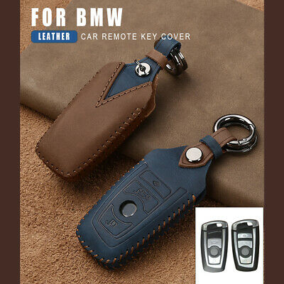 Top Layer Leather Car Key Case Keyless Key Cover For BMW F12 F20 F21 F30 F31 Z4