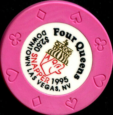 $2.50 Las Vegas Four Queens Snapper 1995 Casino Chip - NM
