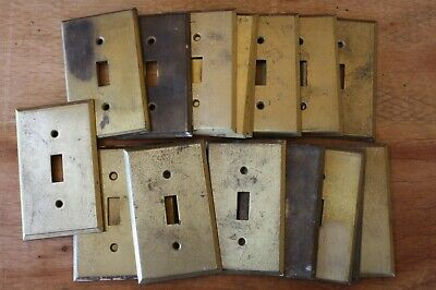 By the Piece Victorian Antique Brass Single Wall Light Toggle Switch Plate Cover