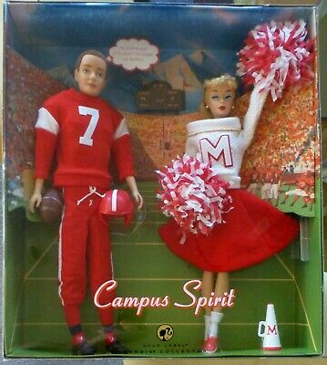 Campus Spirit Barbie Doll and Ken Football Giftset Gold Label  L9649 NRFB