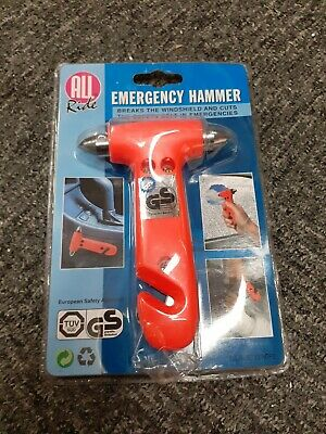 GS MARK SAFETY TESTED Emergency Rescue Hammer Easy Escape Glass Smashing Tool