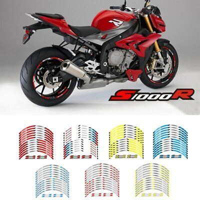 Per BMW S1000R Rim Decal Stripes Sticker Motorcycle wheel paster
