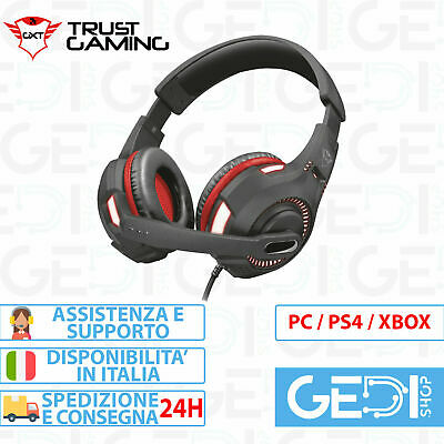 Cuffie Gaming con Microfono Trust Ravu Illuminate PS4 XBOX ONE SWITCH