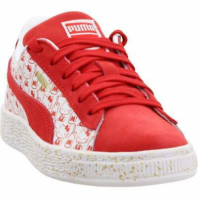 Puma Suede Classic x Hello Kitty Preschool Sneakers Casual   Sneakers Red Girls