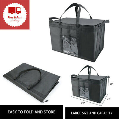 Insulated Food Delivery Bag Meal Grocery Tote Insulation Bags for Hot Cold Food