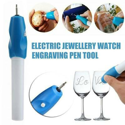 Engraving Electric Carving Craft Pen Handheld Kits For Etching Glass Wood Metal~
