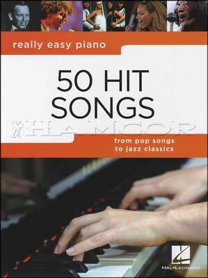 Really Easy Piano 50 Hit Songs Sheet Music Book
