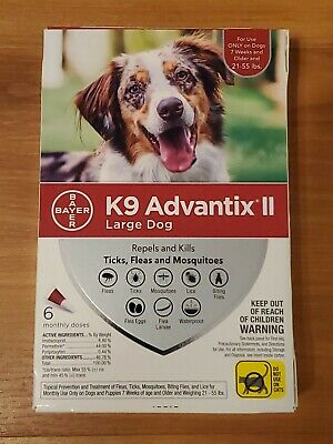 K9 Advantix II for Large Dogs 21-55 lbs - 6 Pack