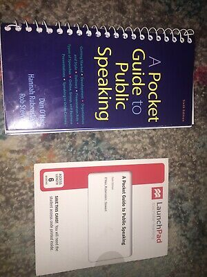A pocket guide to public speaking with Brand New Code Never Opened Sixth Edition
