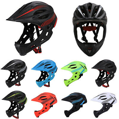 Kids Bike Cycling Full Face Helmet W/ Light Bicycle Skateboard Safety Helmet NEW