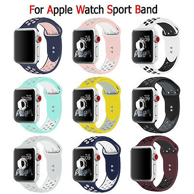 Replacement Silicone Sport Band Strap For Apple Watch 5/4/3/2/1 38/42mm 40/44mm