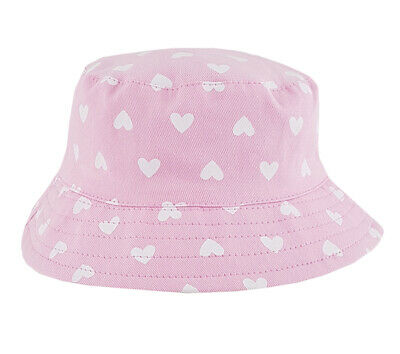 Pink, 3-6 Months Bonnet Style Beach Hats Pesci Baby Girls Summer Sun Hat with Chinstrap and Daisy Flowers
