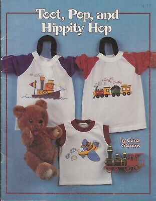 Toot, Pop, and Hippity Hop fabric painting pattern book - 1989 - kids t-shirts