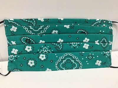 Triple Layer / Nose Band /Filter Pocket/Handmade 100% Cotton Washable