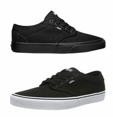 "-NIB- Vans Atwood Canvas ""Off The Wall"" Men's Black Skate Shoes"