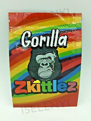 Gorilla Zkittlez Mylar Resealable Smell Proof 3.5g Bags | USA Free Shipping