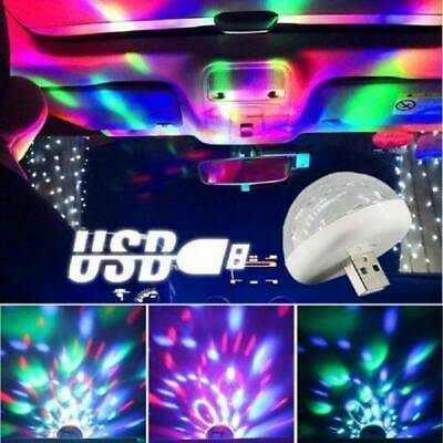 Mini USB RGB LED Stage Lamp Remote Controls Disco Ball Lights Home Car Party Hot