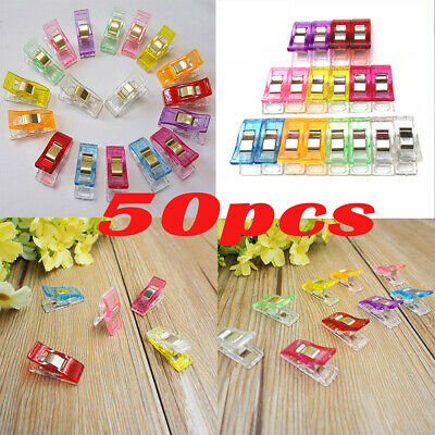 50Pcs Universal Clothes Pins Pegs Hanging Photo Clips Wrapping Clip Random Color