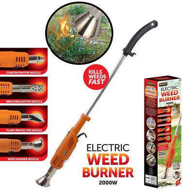 Electric Weed Burner  4 Nozzles   BBQ Lighter   Wand Killer Remover No Chemicals