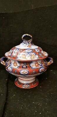 Antique English Ironstone Imari Sauce Tureen