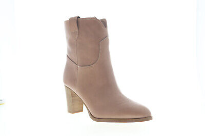 Frye June Short 79905 Womens Brown Leather Slip On Casual Dress Boots