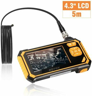 ROTEK Inspection Camera, Endoscope Camera 4.3 Inch Color LCD Screen Industrial E