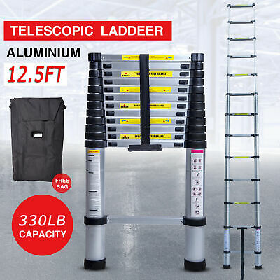 12.5FT Step Ladder ExtensionTelescoping Lightweight Portable Folding Telescopic