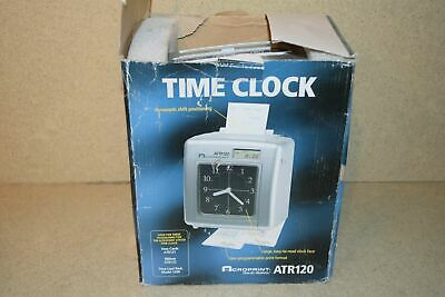 Acroprint Atr120 Time Clock With Automatic Shipft Positioning