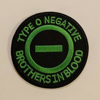 Type O Negative Embroidered Iron-on Gothic Metal Band Patch