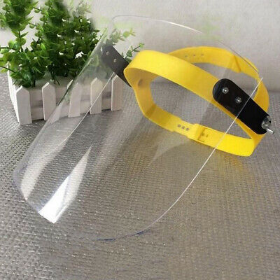 Protective Safety PVC Cover Clear Head-mounted Face Eye Shield Screen Grinding