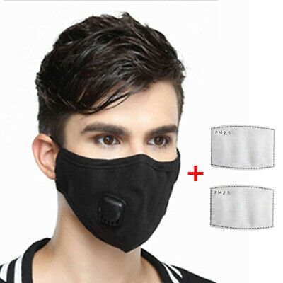 1*Cover+ 2* Filters Protective Cover Haze Dust-proof Anti-fog Pollution PM2.5 UK