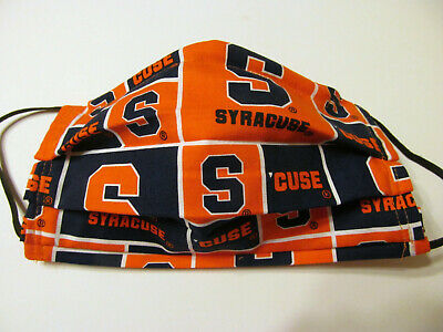 Syracuse University Face Mask w/Filter Pocket Washable Reusable Cotton Fabric